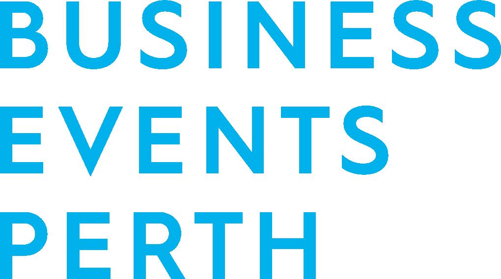 Business Events Perth logo - aqua colour